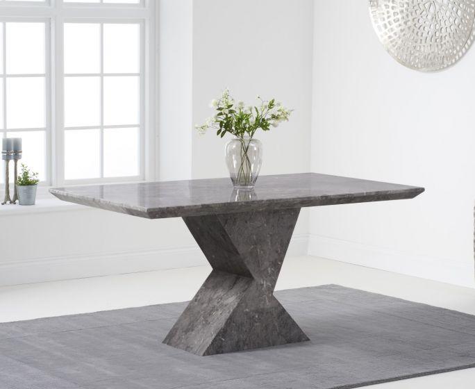 Allen 160cm Rectangular Grey Marble Dining Table Pt30218 Morale Home Furnishings