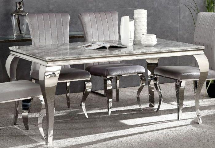Giatalia Liyana 160cm Rect Grey Marble Dining Table Morale Home Furnishings