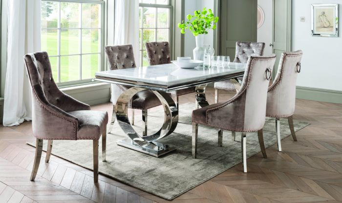 Selene 200cm Rect Bone White Marble Dining Table Sne 200 Wh Morale Home Furnishings